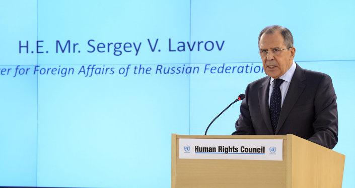 Sergei Lavrov, ministro das Relações Exteriores da Rússia