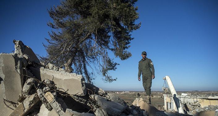 Um povoado na província de el-Hasekeh, no nordeste da Síria