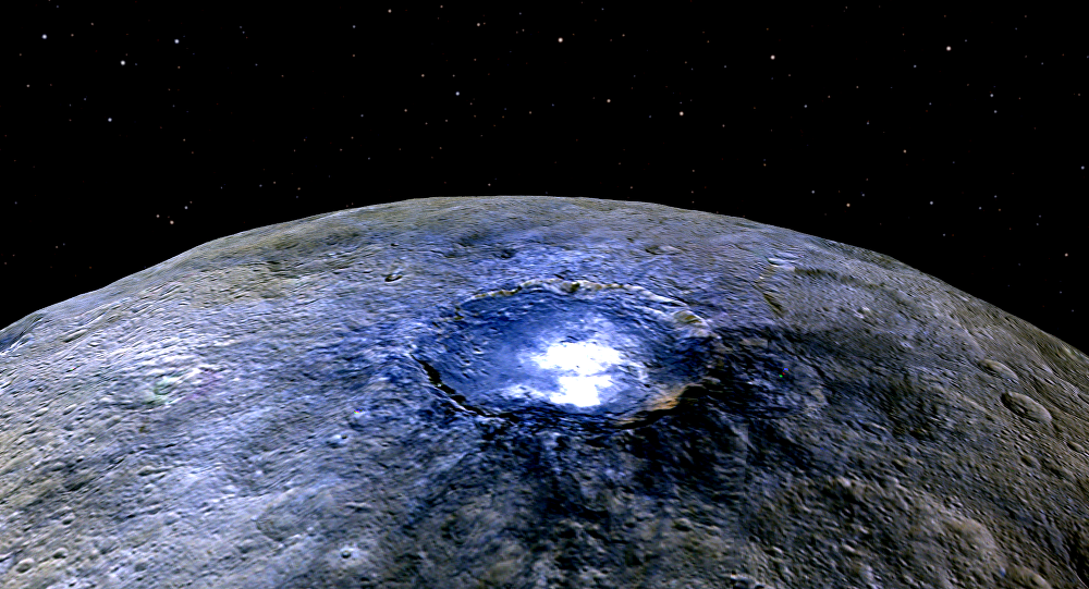 Superfície de Ceres em cores imaginadas