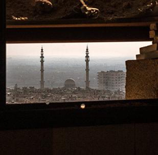 Cidade de Homs vista desde uma posição do exército sírio