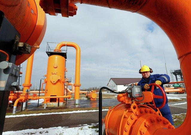 Sistema de distribuição de gás in Beregdaroc, um dos pontos de trânsito do gás russo para UE
