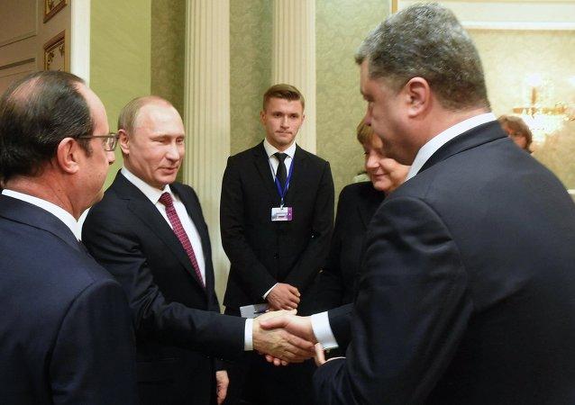 Líderes do quarteto de Normandia se encontram em Minsk