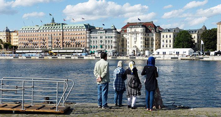 Uma família muçulmana na Suécia
