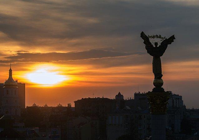 Praça da Independência em Kiev, Ucrânia