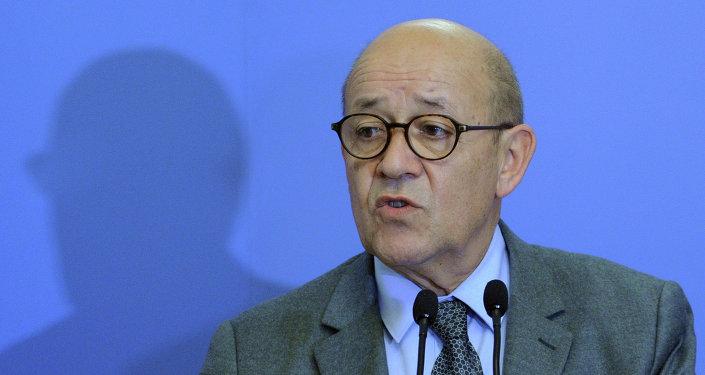 Ministro da Defesa da França, Jean-Yves Le Drian.