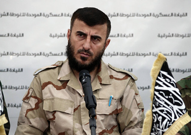 Zahran Alloush, líder do grupo terrorista Jaish al-Islam na Síria