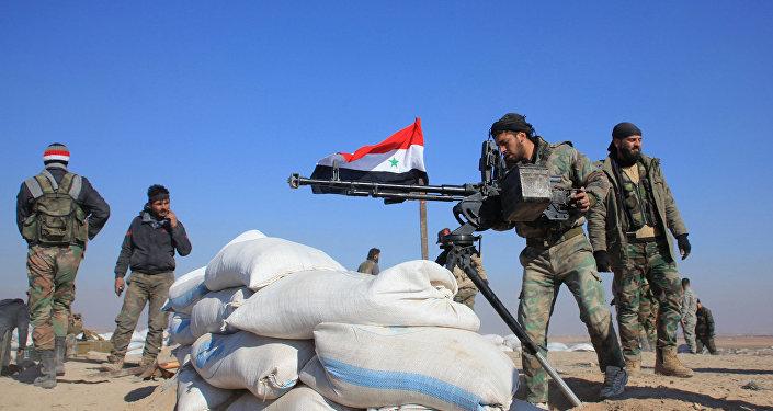 Soldados do exército sírio