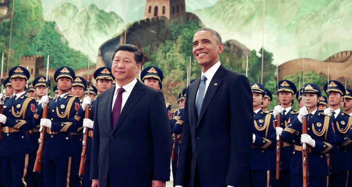 Barack Obama, presidente dos Estados Unidos, e Xi Jinping, presidente da China