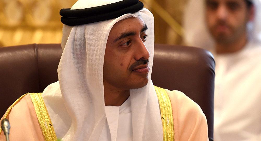 Abdullah bin Zayed al Nahyan, ministro de Relações Exteriores dos Emirados Árabes Unidos