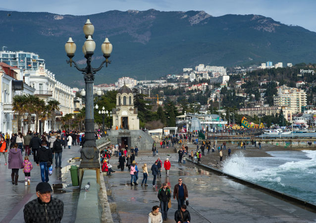 Orla de Yalta, na Crimeia