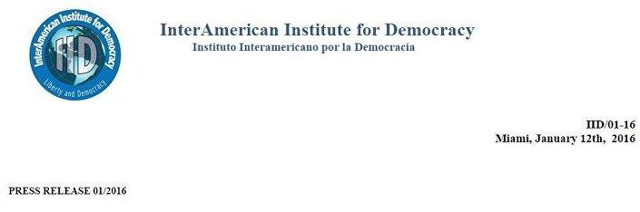 Logotipo do IID visto no site do Instituto, no comunicado que desmente a denúncia feita por Gonzales
