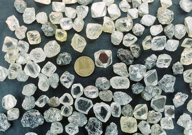 Diamantes extraidos no Extremo Oriente russo