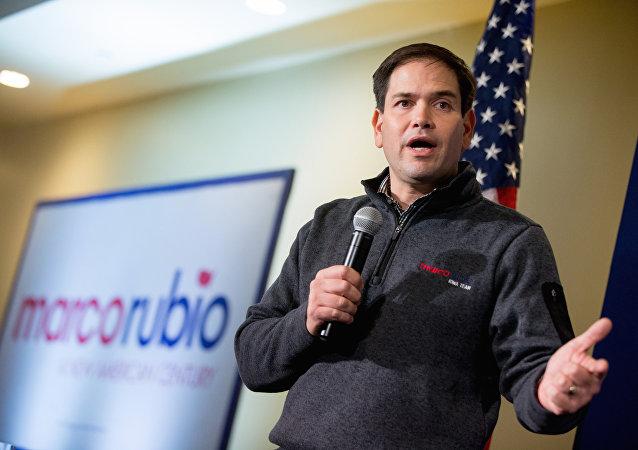Senador pela Flórida Marco Rubio, candidato republicano à presidência dos EUA