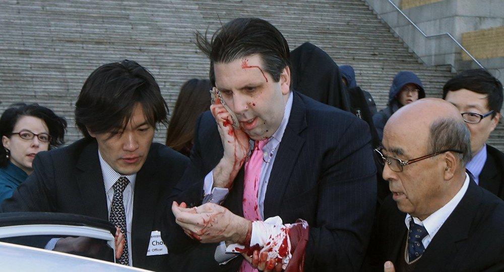 Embaixador norte-americano ferido em Seul