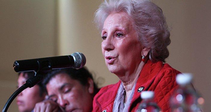 Estela de Carlotto, presidente da organização argentina de defesa dos direitos humanos Abuelas de Plaza de Mayo (Avós da Praça de Maio)