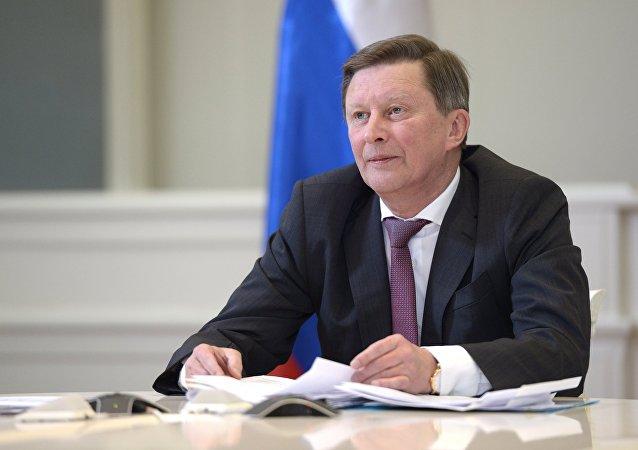 Chefe da administração presidencial da Rússia, Serguei Ivanov