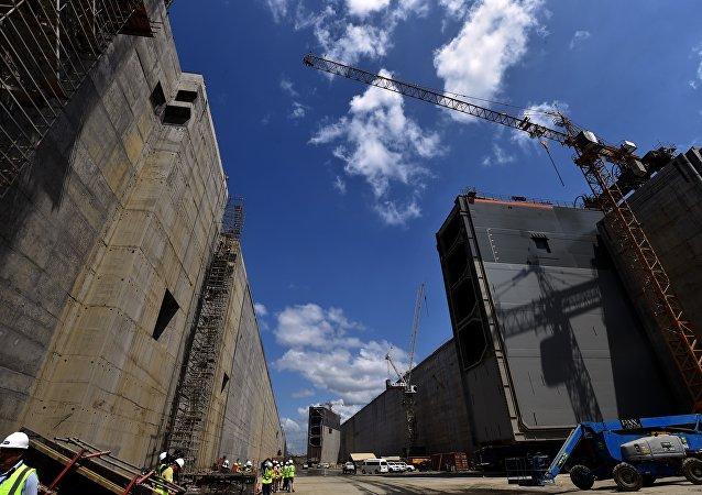 Obras no Canal do Panamá