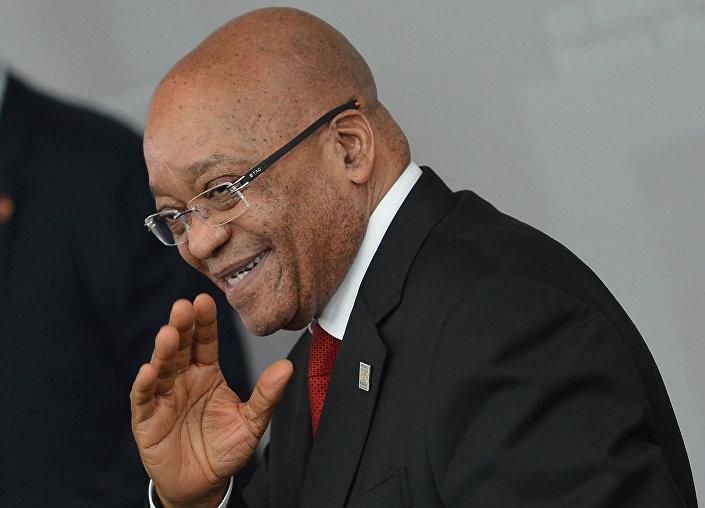 O presidente da África do Sul, Jacob Zuma, durante um encontro no âmbito da cúpula dos BRICS, em Ufá