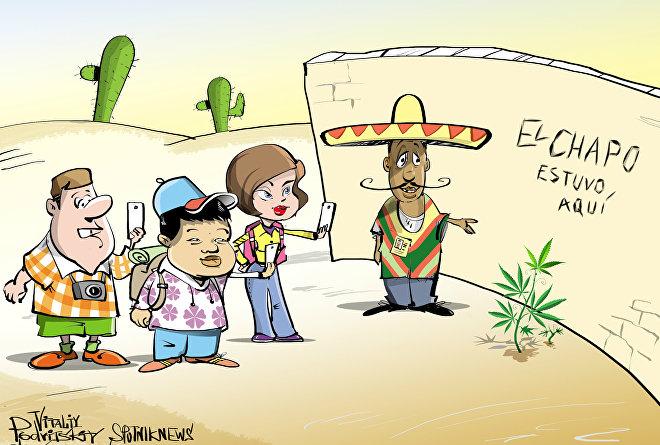 El Chapo esteve aqui