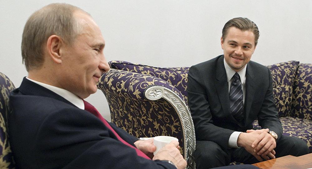 Vladimir Putin e Leonardo DiCaprio