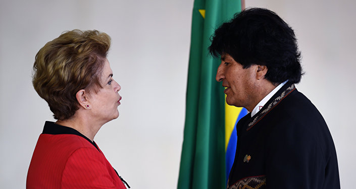 Dilma Rousseff e Evo Morales