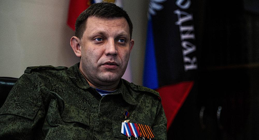 Aleksandr Zakharchenko, líder da República Popular de Donetsk (RPD)