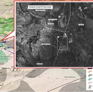 Dados do Ministério da Defesa da Rússia sobre rotas de transportação de petróleo ilegal na Síria