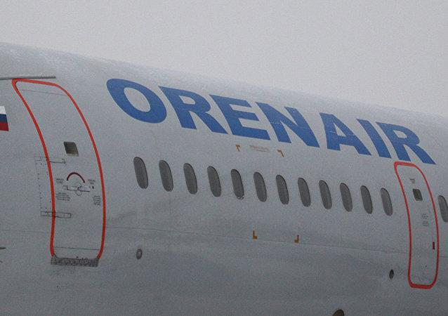 Avião da companhia aérea russa Orenair