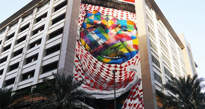 O Beduino, por Eduardo Kobra, Dubaí, Emirados Árabes Unidos