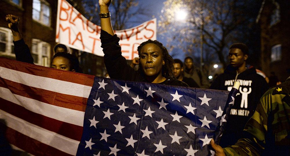 Protesto contra racismo da polícia nos EUA