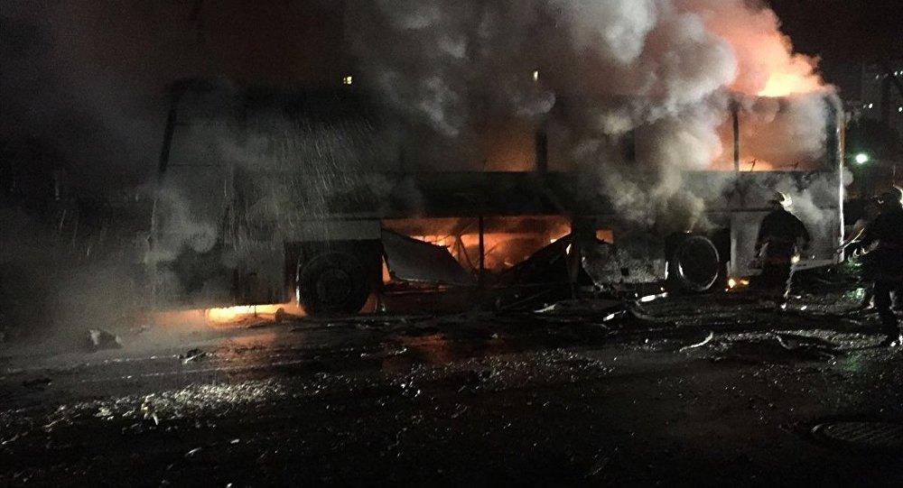 Explosão na capital da Turquia, Ancara, 17 de fevereiro.