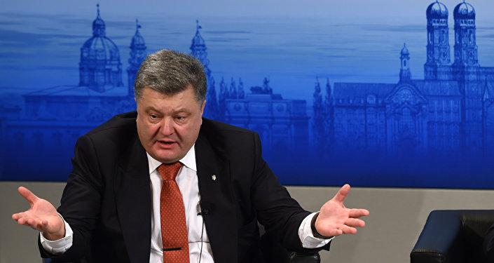 Pyotr Poroshenko durante a conferência de segurança em Munique, na segunda semana de fevereiro de 2016