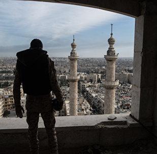 Cidade de Aleppo na última semana de fevereiro de 2016