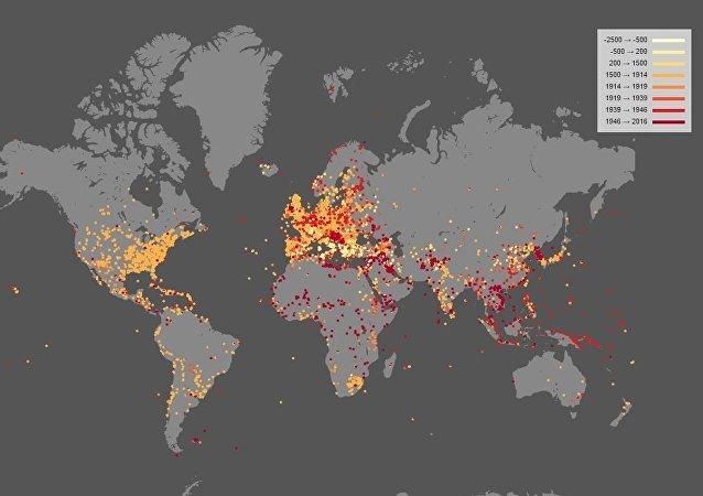 Mapa das batalhas