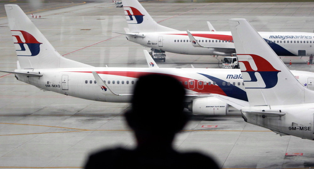 A man views a fleet of Malaysia Airline planes on the tarmac of the Kuala Lumpur International Airport, in Malaysia