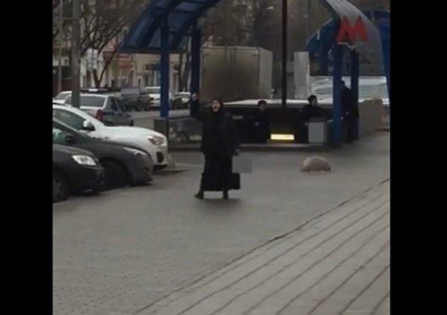Mulher com cabeça decapitada em Moscou