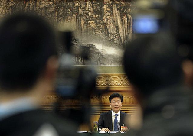 Secretário do Partido Comunista chinês em Xinjiang, Zhang Chunxian