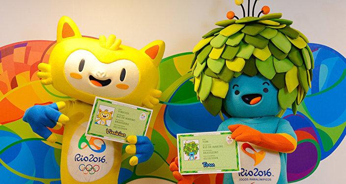 Mascotes jogos Olímpicos Rio 2016