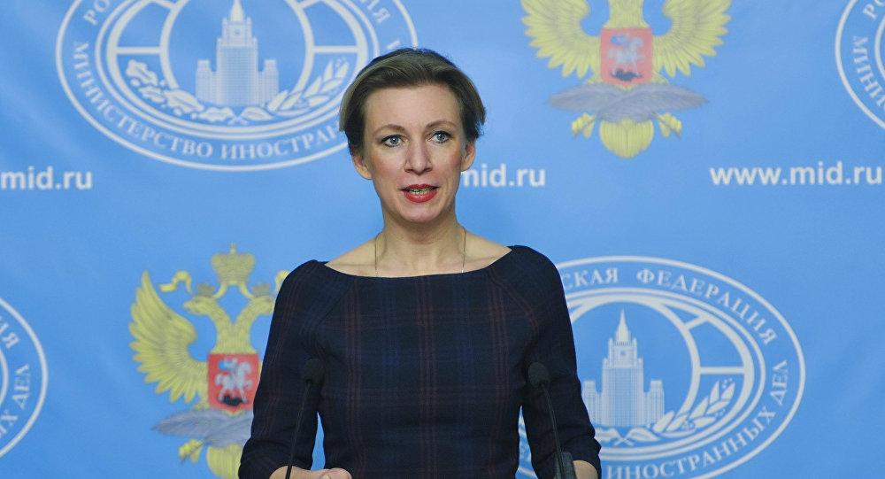Representante oficial do Ministério das Relações Exteriores russo, Maria Zakharova, durante a entrevista coletiva semanal, Moscou, Rússia, 17 de março de 2016
