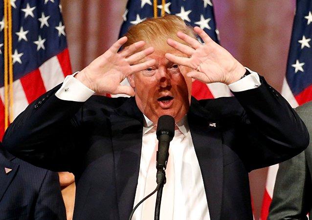 Donald Trump durante campanha pela presidência dos Estados Unidos, em março de 2016