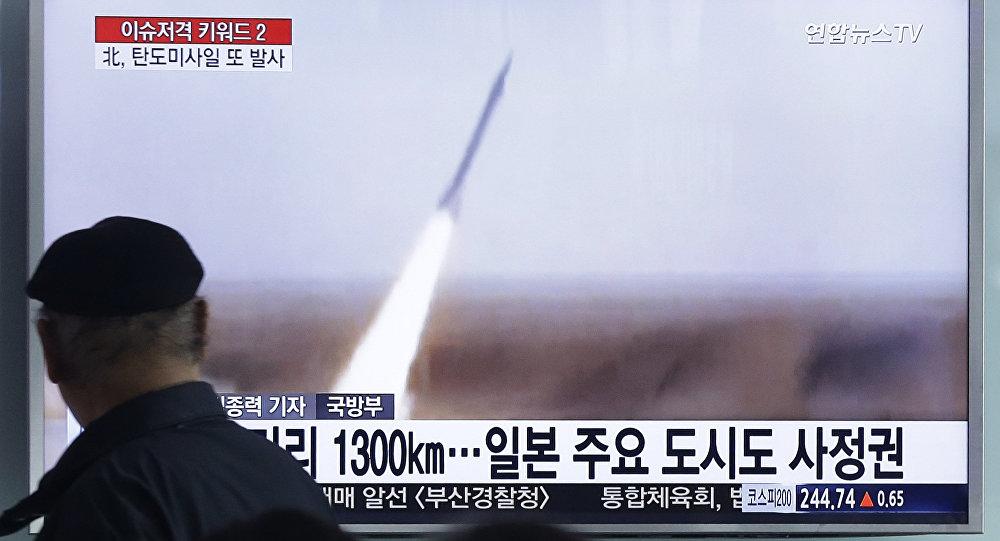 Resultado de imagem para coreia do norte lança missil no mar do japão