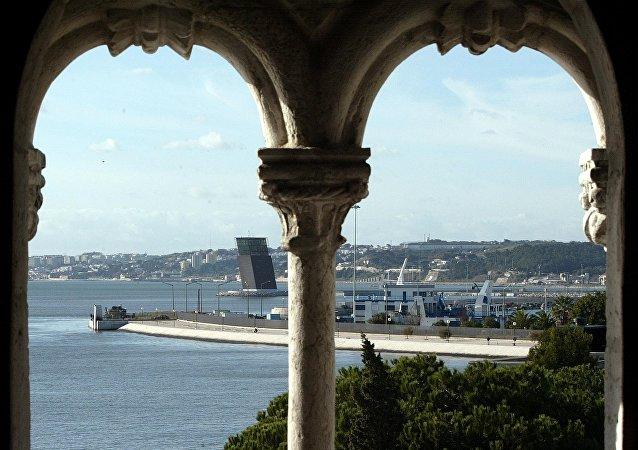 Vista da Torre de Belém, em Lisboa