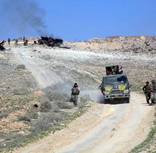 Tropas pró-governamentais sírias avançam na província de Aleppo, Síria, 29 de fevereiro de 2016