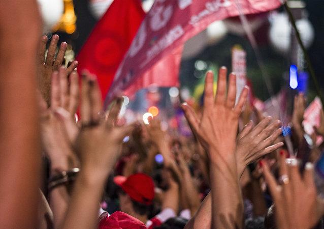 Manifestações contra o impeachment na Avenida Paulista