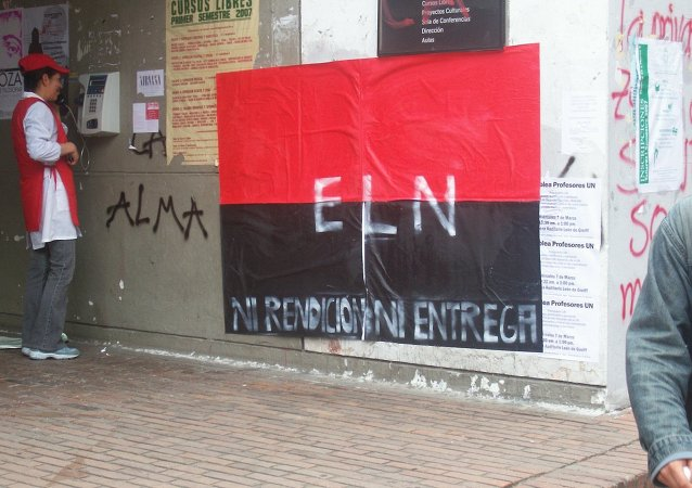 Cartaz da guerrilha colombiana ELN