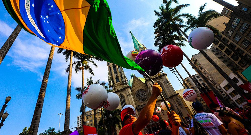 Ato em defesa da democracia em São Paulo