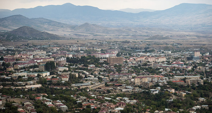 Cidade de Stepanakert, na autoproclamada República de Nagorno-Karabakh
