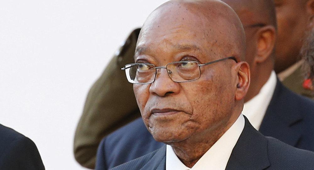 O presidente da África do Sul, Jacob Zuma, em 31 de março de 2016, durante a sessão do Tribunal Constitucional
