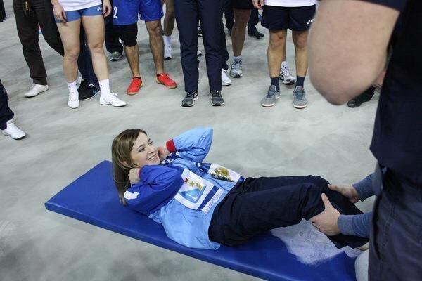 Poklonskaya nas competições dos procuradores russos em Sochi