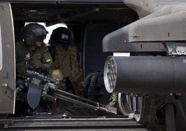 Helicóptero das Forças Armadas da Colômbia.